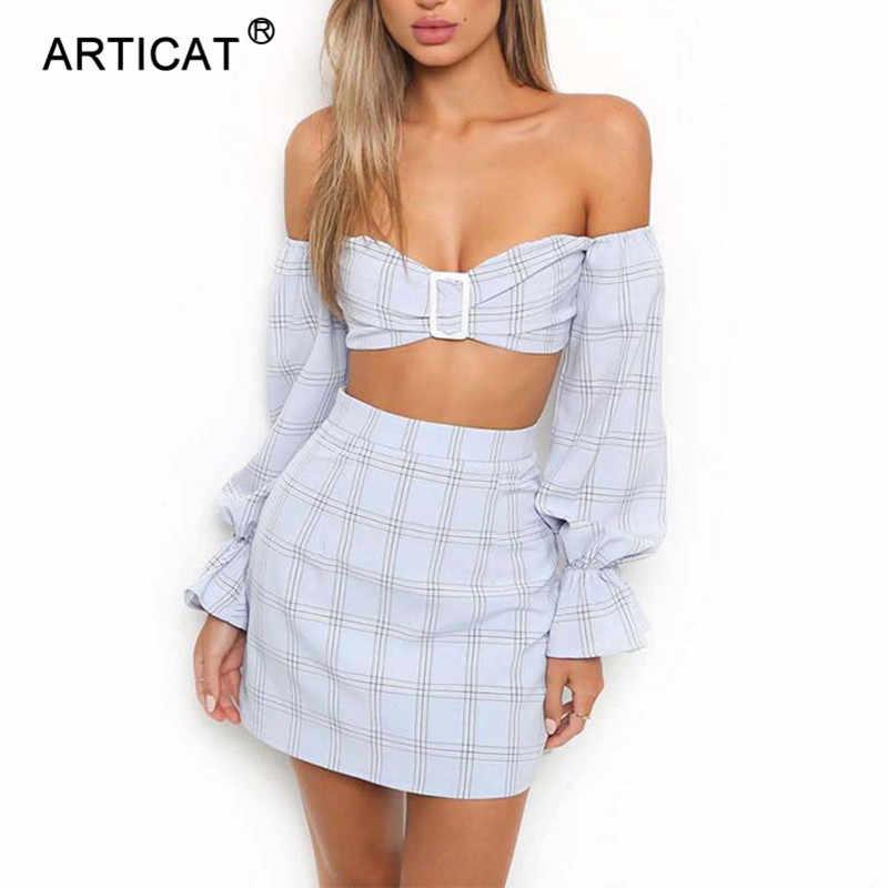 Женское мини-платье для пляжа Articat, облегающее платье без бретелек и с расклешенным рукавом, повседневное короткое платье с открытой спиной, комплект из 2-х предметов, для лета, 2018