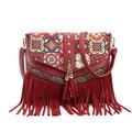 2017 new Embroidery tassel messenger bag designer shoulder bags high quality crossbody bags for women colorfull