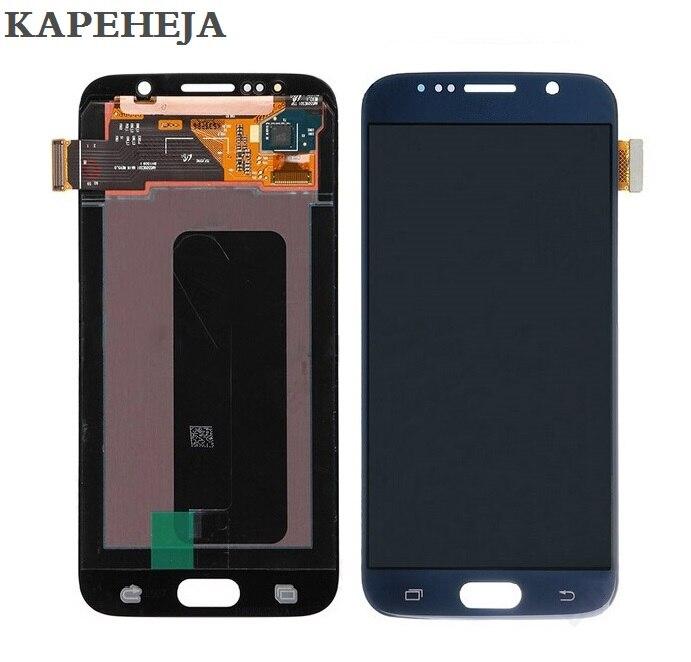 Super AMOLED Affichage D'affichage À CRISTAUX LIQUIDES Pour Samsung Galaxy S6 G920 G920F G920P G920I G920V G920A Assemblée de convertisseur analogique-Numérique D'écran tactile D'affichage D'affichage à cristaux liquides