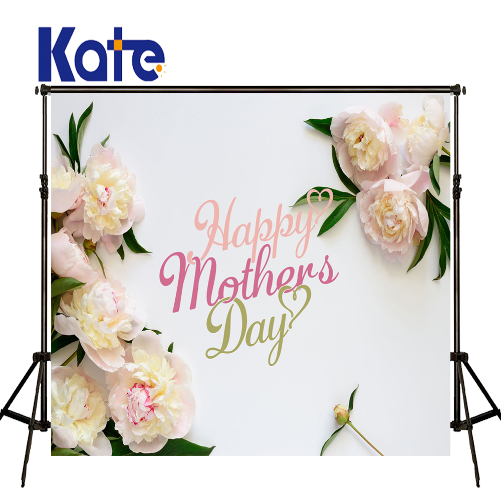 Kate joyeux fête des mères photographie fonds blanc fleur bois fond printemps photographie arrière-plan bébé