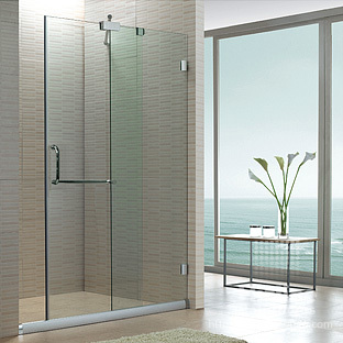 Shower Room Simple Customize Sliding Door Partition Bathroom Glass Door  Frameless Shower Room / Adjust Shipping