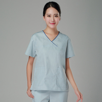New 2017 V neck women hospital medical scrub clothes uniform dental clinic beauty salon working uniform 100% cotton
