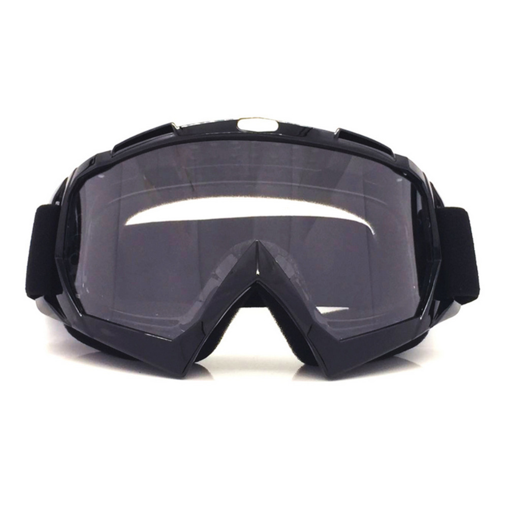 f32627ffc6 High quality Black Motorcycle Bike ATV Motocross Ski Snowboard Off road  Goggles FITS OVER RX GLASSES Eye Lens+Chin Accessories-in Motorcycle Glasses  from ...