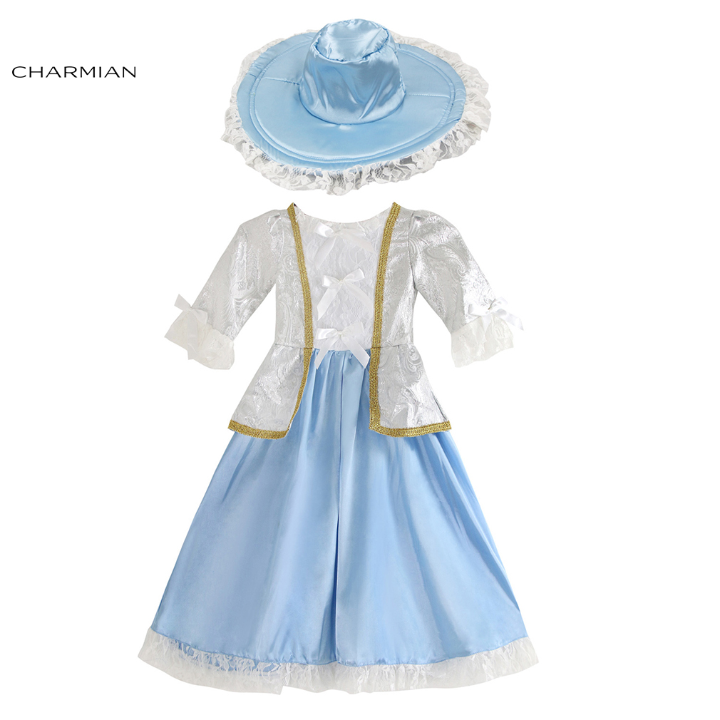 Charmian Vintage Princess Dress Halloween Costume for Girl Kid Princess Cosplay Fancy Dress Carnival Party Costume Girls Clothes