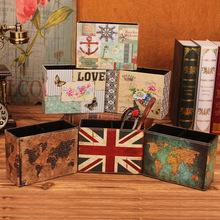 купить Vintage Pen Holders Multifunctional Storage Leather Cosmetic Storage Box/Memo box/Penholder Gift Office Organizer School Supplie по цене 628.52 рублей