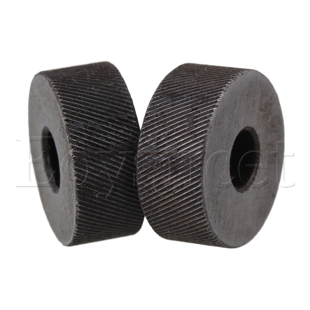 2PCS 19 X 8mm Knurl Wheel Tool Diagonal Coarse Twill Pattern 0.5mm Pitch Roller