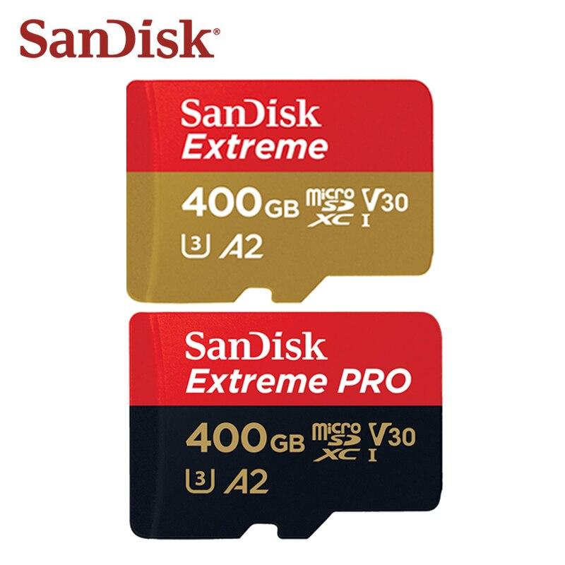 100% Original SanDis extrême PRO Micro carte SD 400GB micro SDXC carte mémoire A2 A1 V30 U3 C10 jusqu'à 170 mo/s TF carte pour téléphone portable