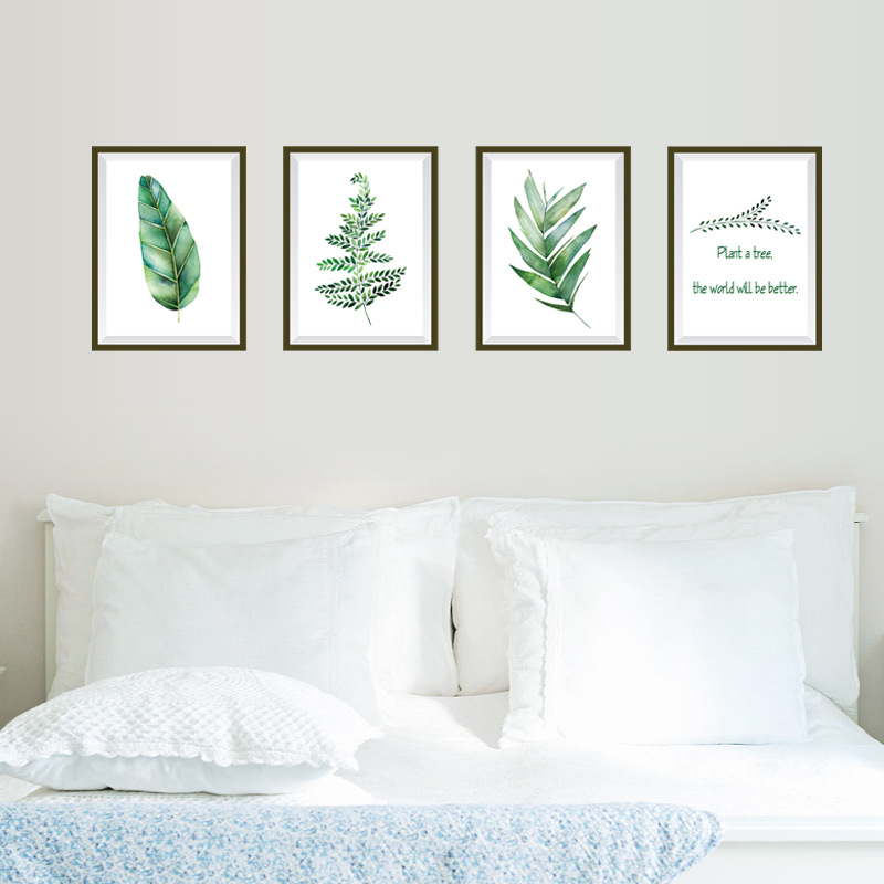 Unique Bedroom Wallpaper Warm Green Bedroom Colors Boys Bedroom Furniture Feng Shui Bedroom Bed Position: Nordic Clean Wall Stickers Decorative Bedroom Living Room