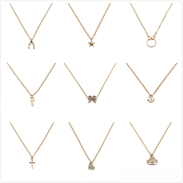 2017 make wish necklace with card Elephant Pendant Short Chain Choker Necklace F