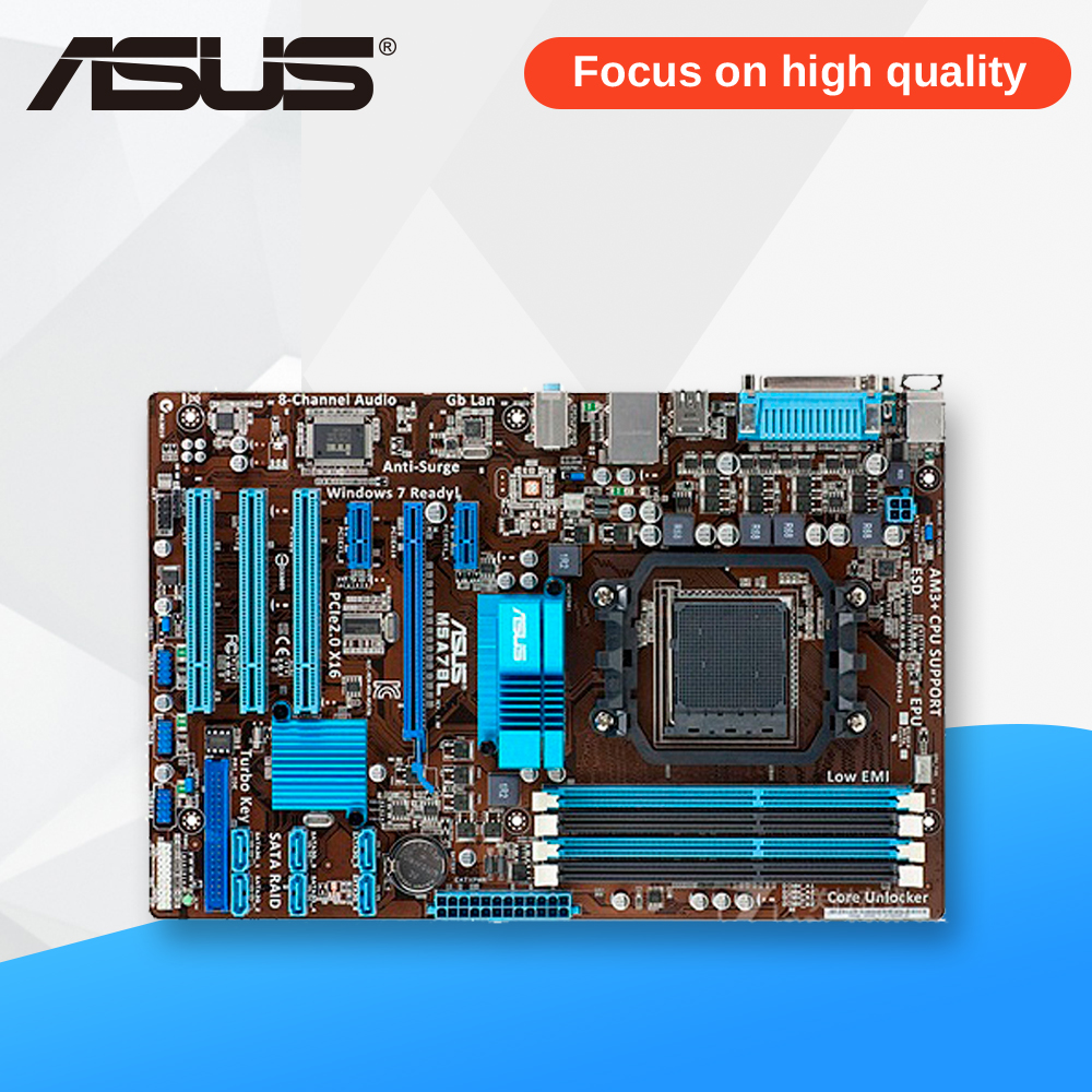 все цены на Asus M5A78L Desktop Motherboard 760G Socket AM3+ DDR3 16G SATA2 USB2.0 ATX онлайн