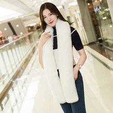 B Winter women warm scarf quality faux fur shawl collar fox rabbit lady color / fashion style 180 cm Long