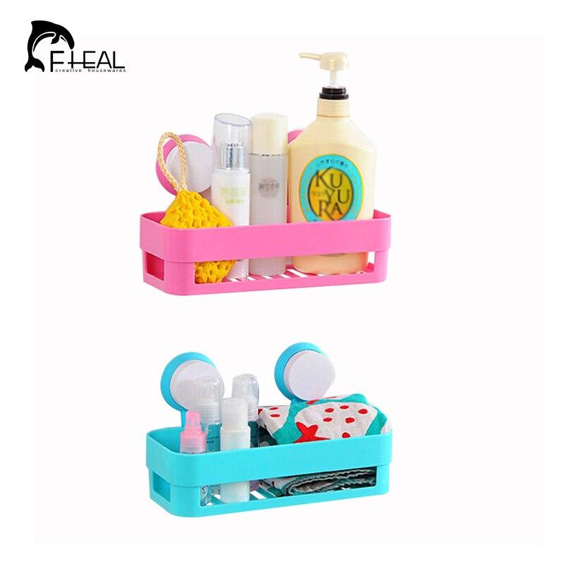 Bathroom Toiletries fheal multicolor double suction storage rack kitchen sundries