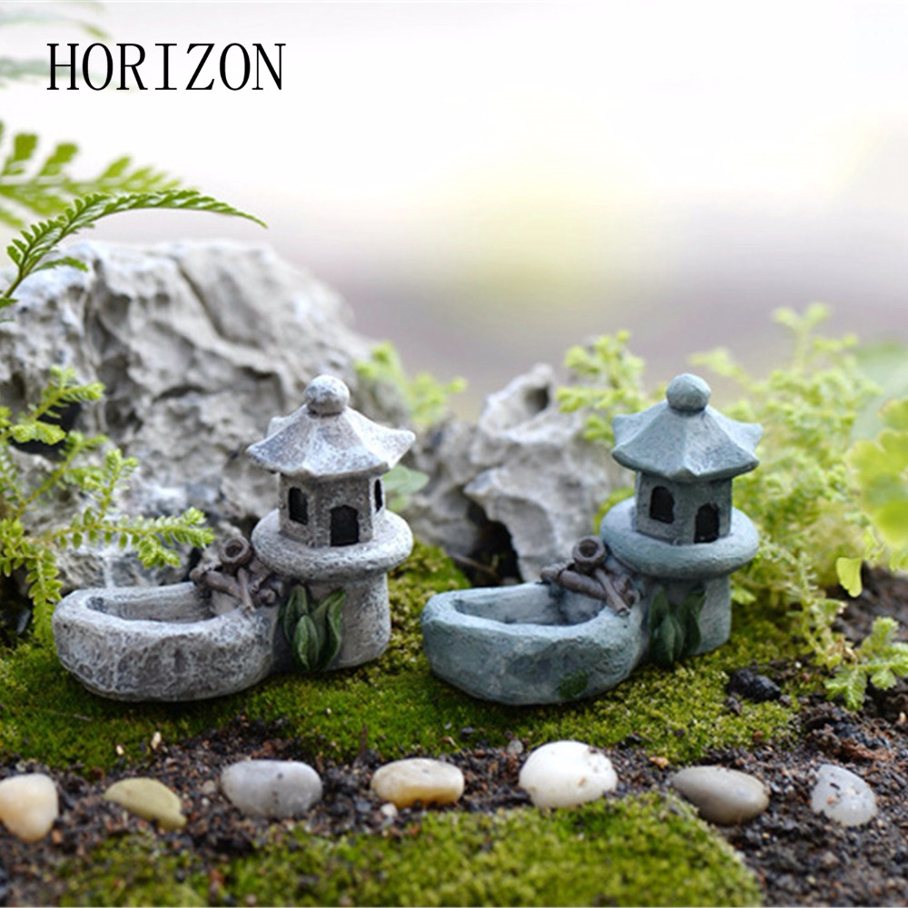 1pcs Vintage Artificial Pool Tower Miniature House Fairy Garden Home Decoration Mini Craft Micro Landscaping Decor-in Figurines & Miniatures from Home & Garden on Aliexpress.com | Alibaba Group