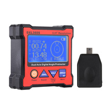 Dual Axis Digital Angle Protractor Dual-axis Display Level Gauge with 5 Side Magnetic Base EU Plug