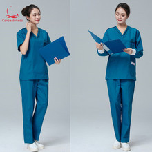 Мужчины и женщины кисть с длинным рукавом короткие изоляции медсестры одежда сплит костюм врача