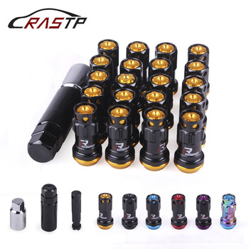 цена на RASTP Project Kics Racing Composite R40  Steel Lock Anti Theft Wheel Lug Nuts M12x1.5 or M12x1.25 RS-LN046