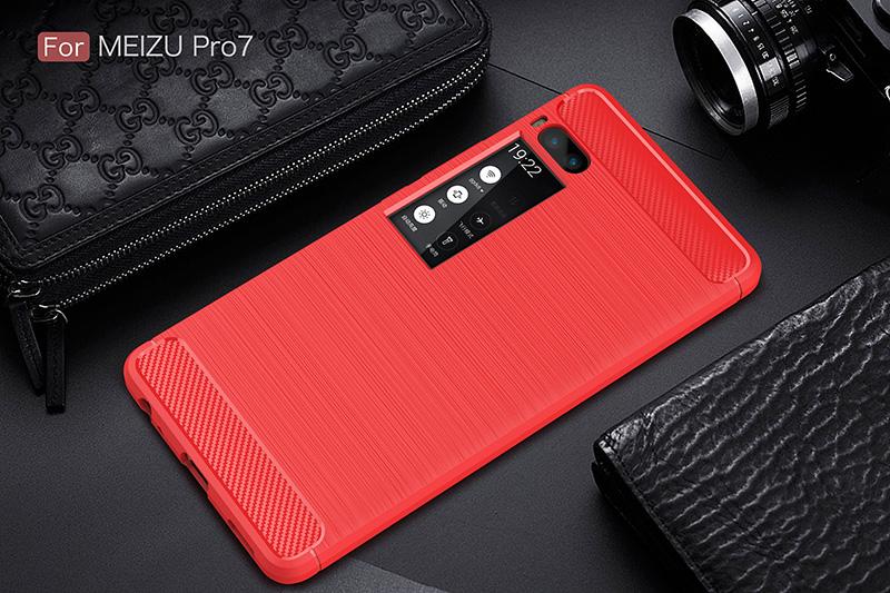 carbon fiber silicon case meizu pro 7 (13)