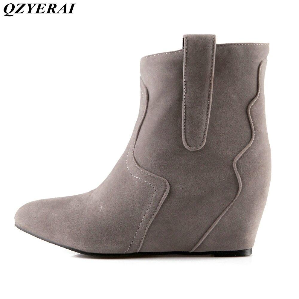 QZYERAI European new arrivals winter fashion ankle boots font b women b font boots font b