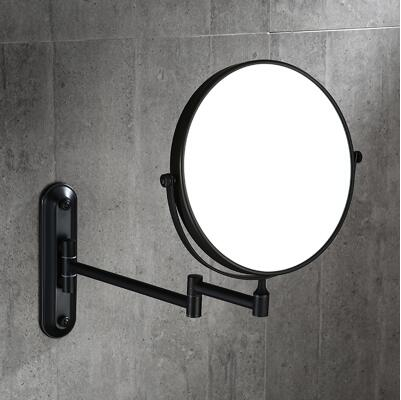 8 ORB Double Side Bathroom Folding Mirror  Wall Mounted Extend with Dual Arm 1x3x Magnifying make up mirror new fashion 6 inches led bathroom mirror dual arm extend 2 face metal makeup mirror 5x magnifying wall mounted extending folding