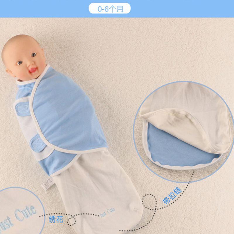 2017 New Baby Swaddling Blankets Infant 100% Cotton Baby Envelope Newborn Sleeping Bag With Zipper Newborn Infant Bedding
