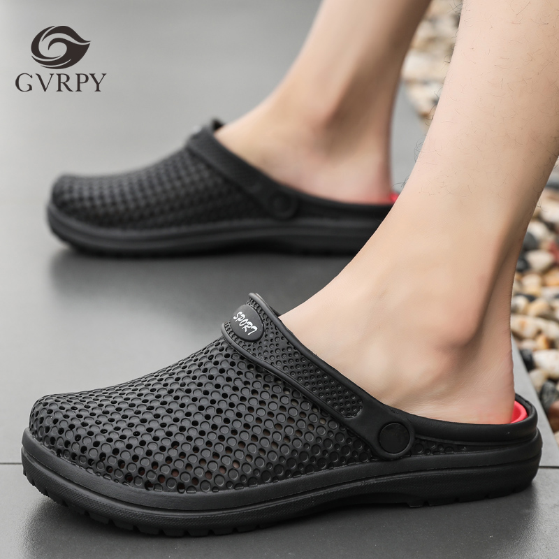 Summer Hole Shoes Men's Breathable Non-slip Medical Shoes Doctor Nurse Beautician Work Shoes Laboratory Workshop Work Slippers