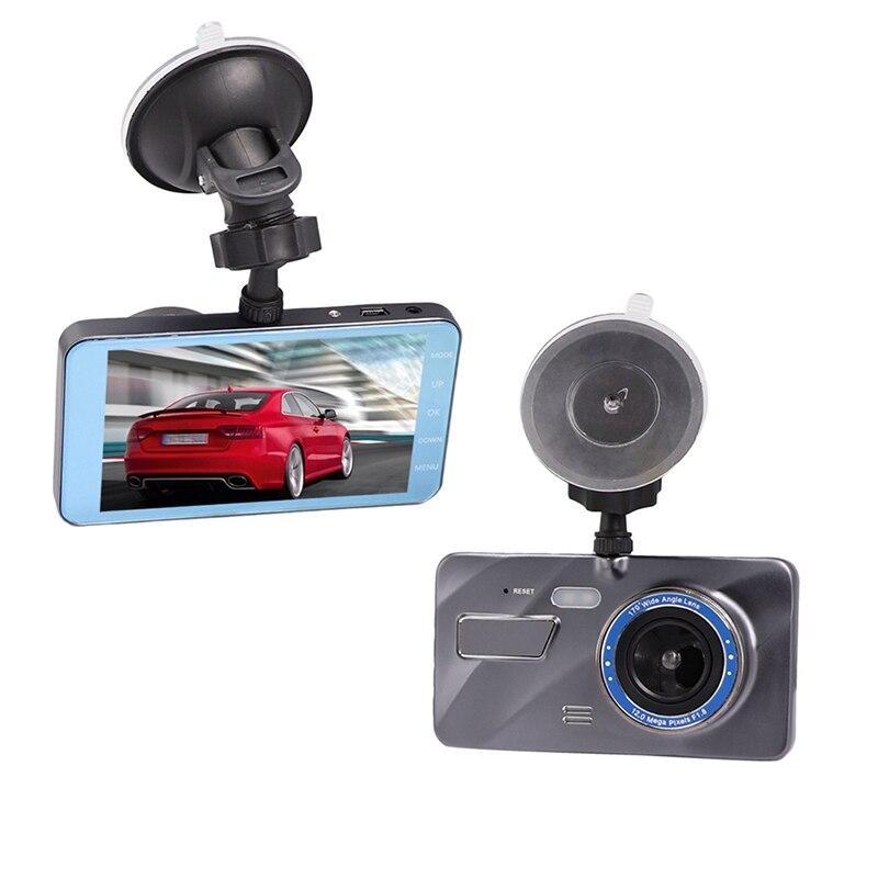 New Dual Lens Car DVR Camera Full HD 1080P 4 IPS Front+Rear Blue Mirror Night Vision Video Recorder G-sensor Motion Detection 2 7 car dvr dual camera full hd 1080p allwinner car camera recorder front 140 rear 120 degree night vision hdmi g30b
