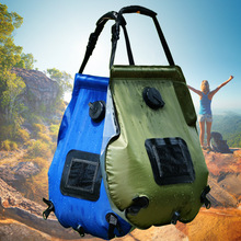 NEWEST!!!Solar bathing bag Outdoor self-driving camping hot water bottle Portable outdoor drying bath storage 20L