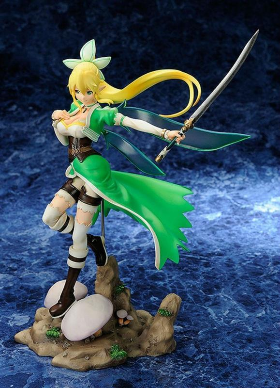 Anime Sword Art Online Fairy Dance Leafa 1/8 PVC Action Figure Collectible Toy 10 25CM Free Shipping nendoroid anime sword art online ii sao asada shino q version pvc action figure collection model toy christmas gifts 10cm