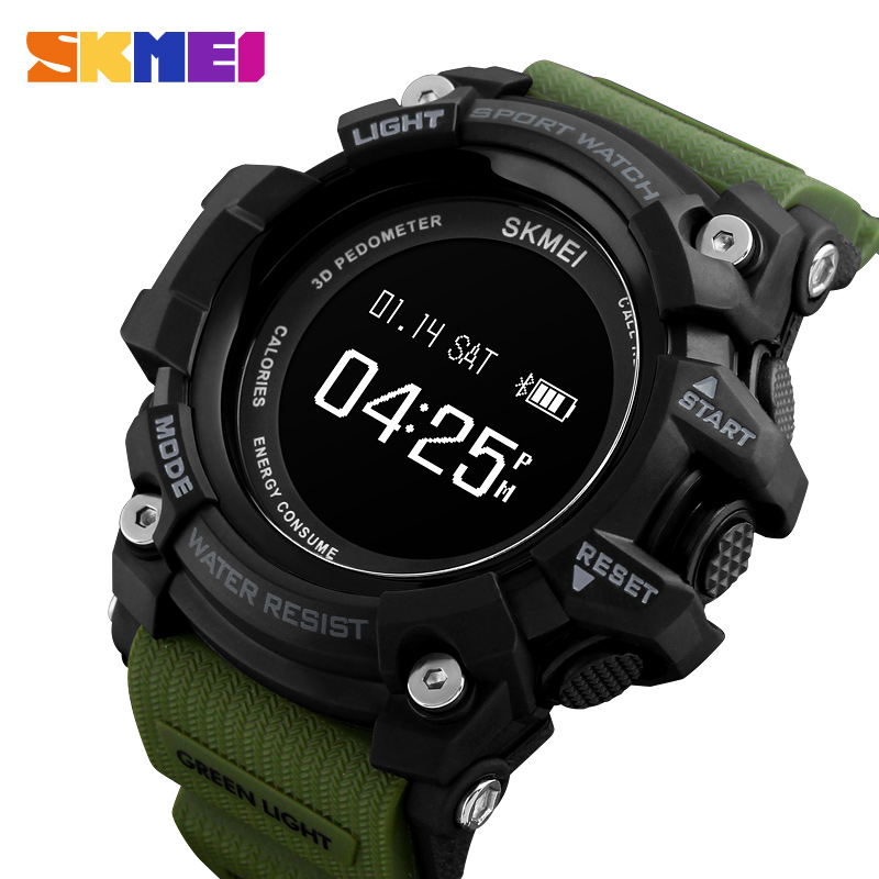Sports Watch Men Heart Rate Smart Watches Bluetooth Pedometer Calorie rechargeable LED Digital Wristwatch reloj hombre SKMEI mens smart watch rechargeable heart rate monitor bluetooth watch men pedometer calories chronograph digital sports watches skmei