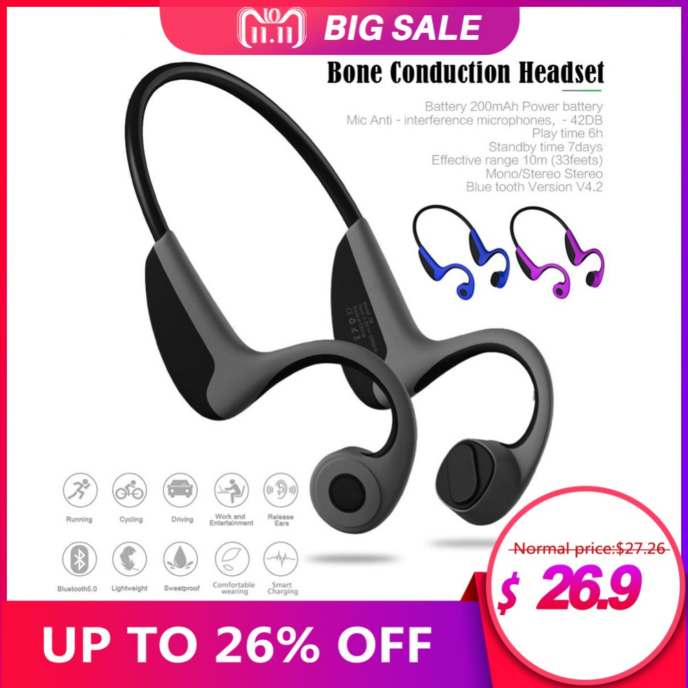 bone conduction Headset Wireless Bluetooth 4.2 Stereo Headset Neck-Strap Headphone Bone Conduction Hands-Free Earphone prediction of bone length from bone fragments