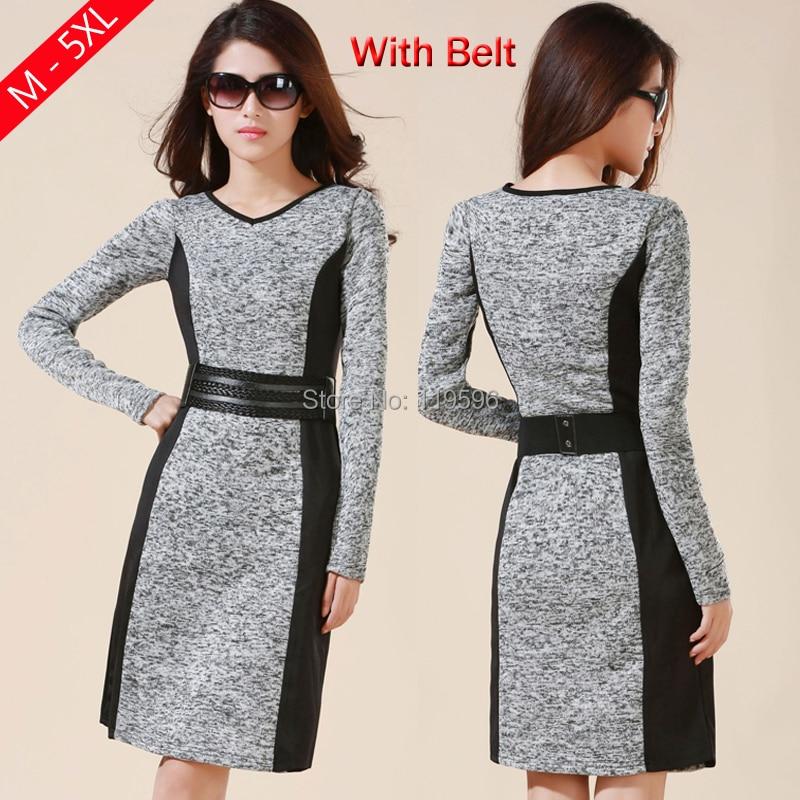 2018 M 5xl 4xl 3xl High Quality Ol Business Dresses Work Wear High