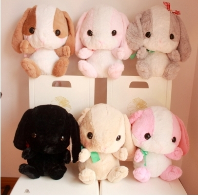 """16""""  Bigger Than You Think Fluffy Japan AMUSE Pote Usa Loppy Cuddly Bunny Rabbit Plush Doll Sitting Gesture Kids Toy Gift"""