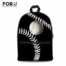 e98267881 FORUDESIGNS mujeres Mochila Baseballs impresión de bolsas escolares de lona  para adolescentes niñas estilo Preppy Mochila