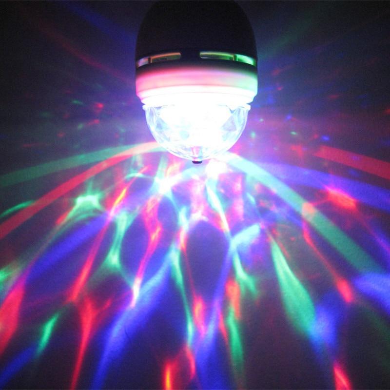 E27 3 Вт красочный Авто вращающийся RGB светодиодный светильник вечерние лампы домашний диско вечерние мини светильник ing лампы-in Эффект освещения сцены from Лампы и освещение on