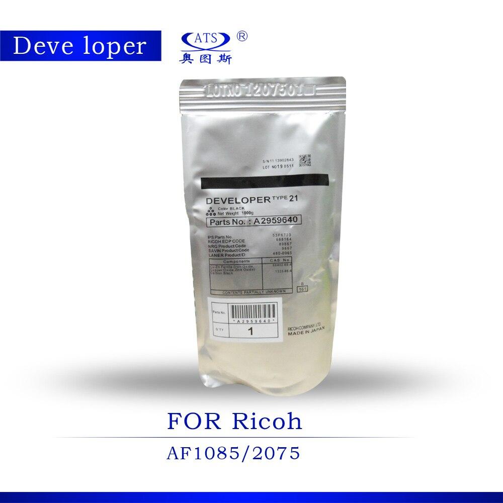 1PCS 1000G Photocopy machine CODE A2959640 For Ricoh Developer Powder part AF1085 AF2075 Developer type 21 copier part 1085 2075 1pcs 1kg toner powder photocopy machine