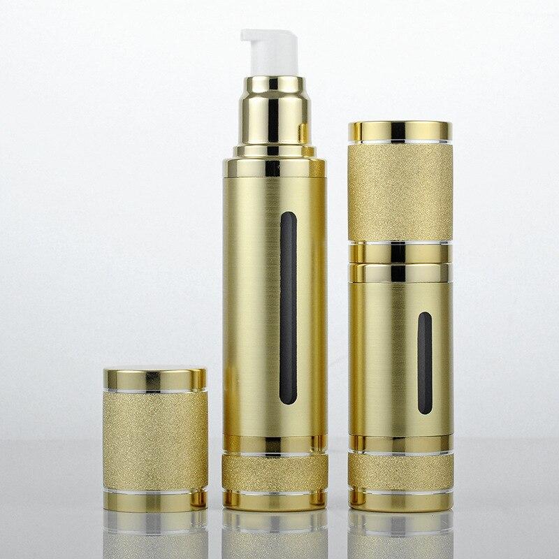 1pcs 30ml 50ml placer gold/silver vacuum bottle Rolling sand Open skylight boutique sub-bottle wholesale BQ052