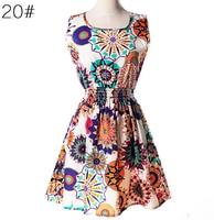Postpartum Mothers 2019 Summer New Large Size Maternity Vest Dress Round Neck Sleeveless Floral Chiffon Dress Print
