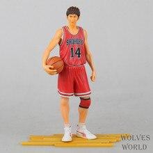 Hot ! NEW 1pcs SLAM DUNK Mitsui Hisashi NO.14 24CM PVC Action Figure Model toys dolls slamdunk A392