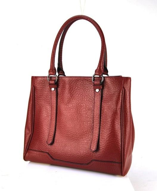 Women Genuine Leather Tote Shoulder Handbag Multi Compartment ...