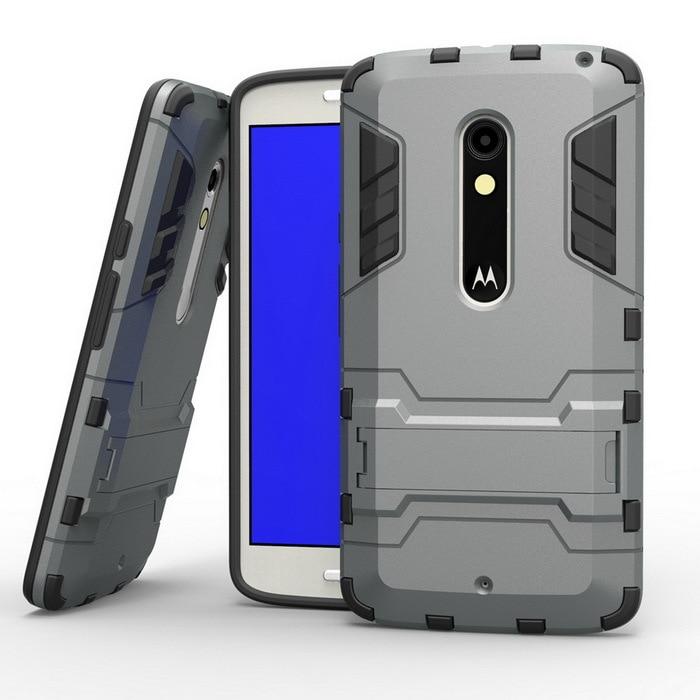 sneakers for cheap 26ca6 10ecd US $6.49 |Fashion X Play PC Hard Tough Hybrid Armor Kickstand Case Fundas  For Motorola Moto X Play XT1562 Phone Back Cover Stand Capa Case on ...