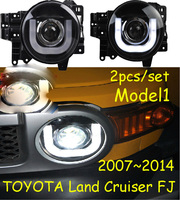 2pcs Car Styling head lamp 2007~2014,For prado Fj CRUISER headlight led Taillight DRL front Bi Xenon Lens Double Beam HID KIT