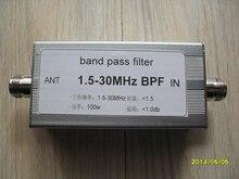 Free shipping BPF-1.5-30 Shortwave band pass filter 1.5-30MHz BPF band-pass filter improves radio interference immunity стоимость