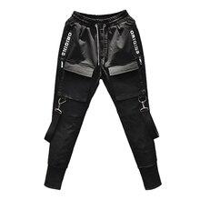 2018 Nova Moda Hip Hop Harem Pants calças Dos Homens Corredores Sweatpants  homens Preto Multi- 0e01c90bccc