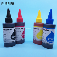 Free Shipping 4PCS Universal Dye Ink For Canon 4 Color Desktop Inkjet Printer BK C M