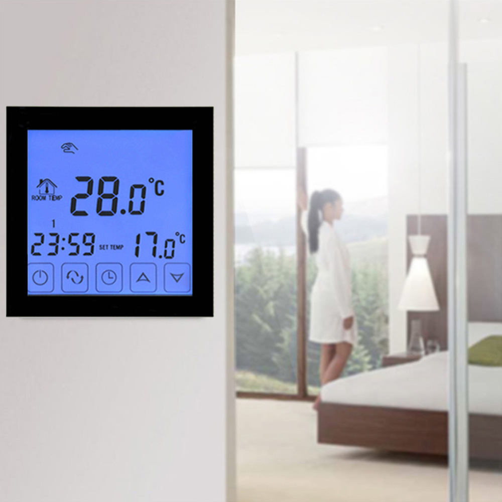 WiFi Thermostat Temperature Controller LCD Touch Screen Wireless Room Underfloor Heating Controller Thermoregulator Dropshipping