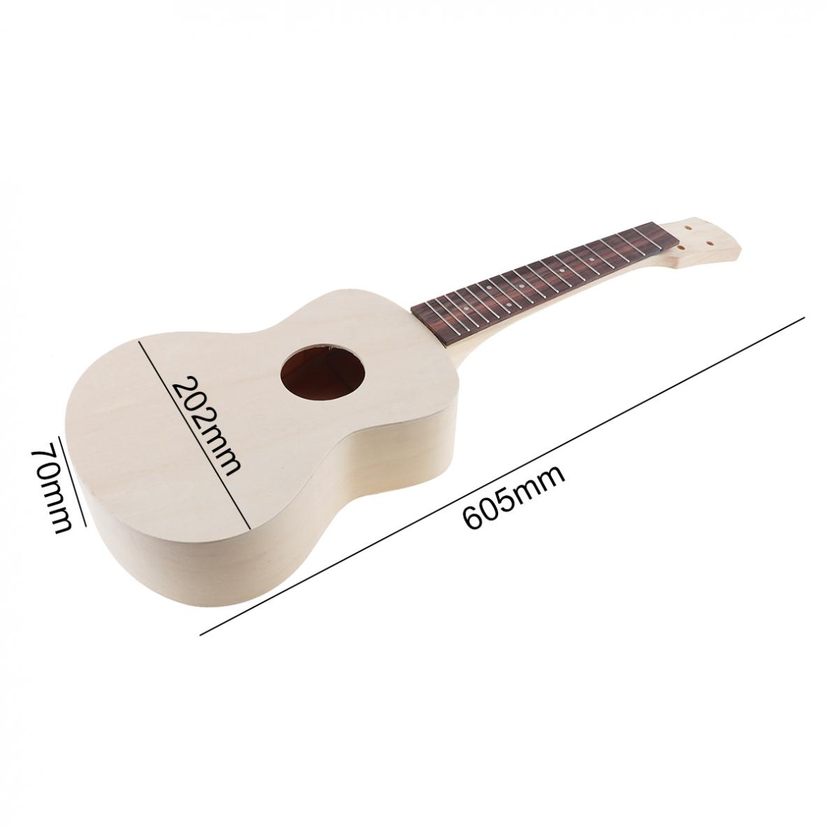 23 Inch Ukulele DIY Kit Professional Rosewood Fingerboard Hawaii Guitar for Handwork Painting Parents child Campaign in Ukulele from Sports Entertainment