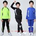 2016 2017 Nueva moda de Invierno de Ropa Deportiva de entrenamiento de fútbol Muchachos Chándales Niños futbo chandal Deporte Kits de Formación de Fútbol conjuntos