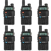 6pcs BAOFENG UV-5R Walkie Talkie Up to 128 channels FM Transceiver Dual-band DTMF 128 memory channels Talkie