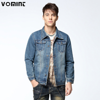 2017 New Arrival Mens Denim Jacket Coat Single Breasted Loose Fit Light Blue Big Men Large