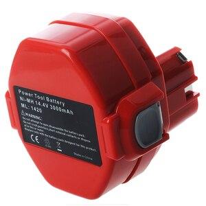 Image 3 - 14.4V NiMH Bateria para Makita 3.0Ah 6281D 6333D 6336D 6337D 6339D Vermelho